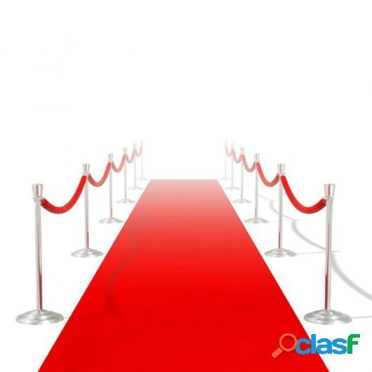 Alfombra de pasillo roja 1 x 20 m muy densa 400 g / m²