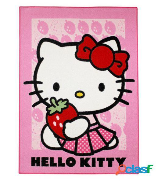 Alfombra hello kitty fresas