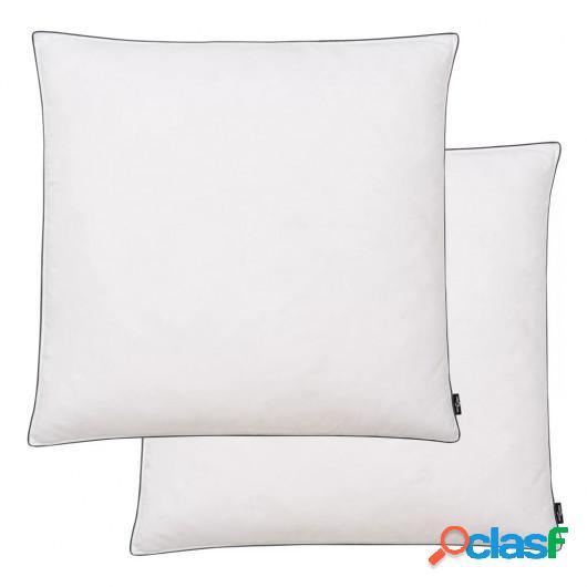 Almohadas de plumón/plumas 80x80 cm blanco 2 unidades
