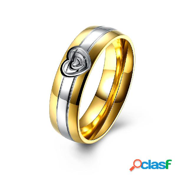 Anillo de Pareja dulce anillo de regalo de acero inoxidable