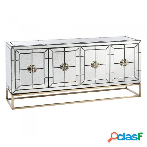 Aparador Plata Oro Cristal Metal Y Moderno 1600.00 X 40.00