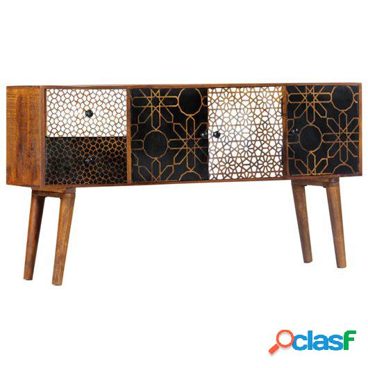 Aparador con estampado madera maciza de mango 130x30x70 cm