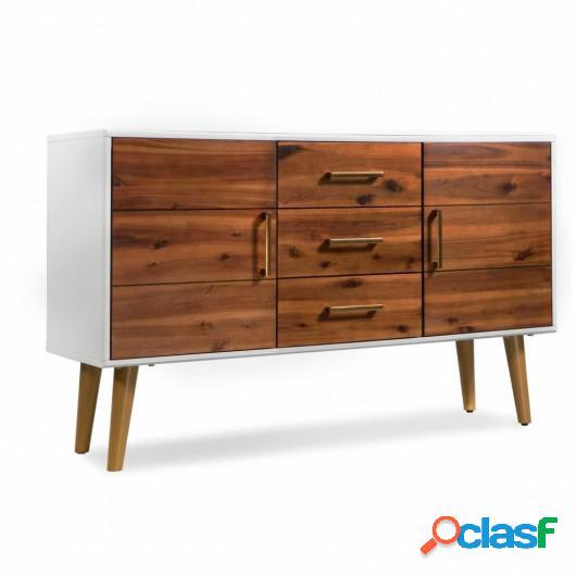 Aparador de madera de acacia 115x35x70 cm