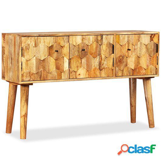 Aparador de madera de mango maciza 118x35x75 cm