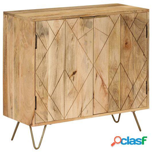 Aparador de madera de mango maciza 80x30x75 cm