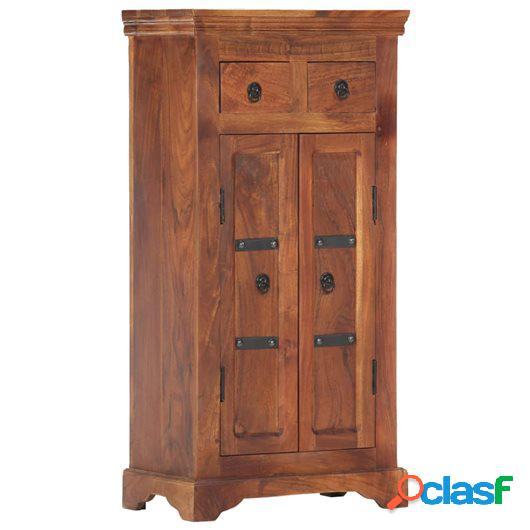 Aparador de madera maciza de acacia 50x30x100 cm