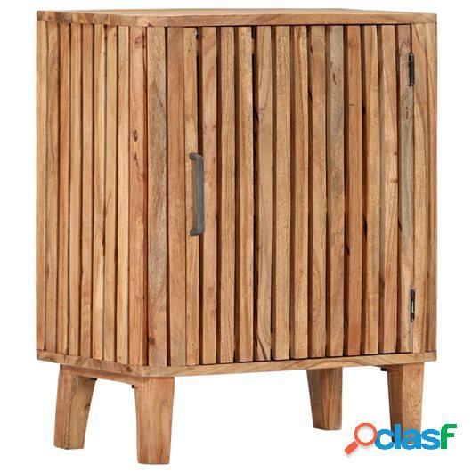 Aparador de madera maciza de acacia 60x35x73 cm