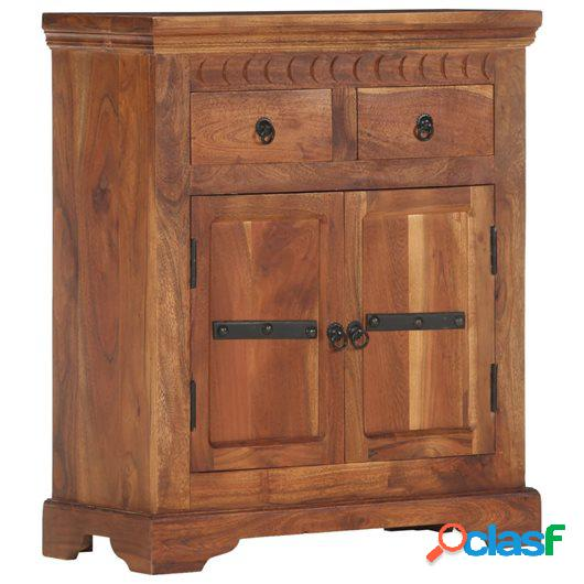Aparador de madera maciza de acacia 63x30x75 cm