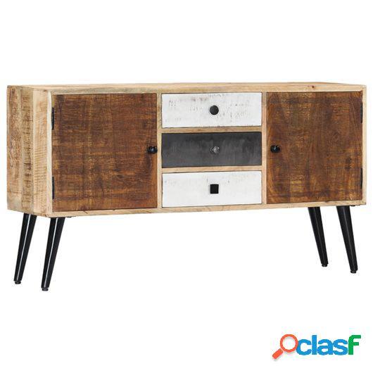 Aparador de madera maciza de mango 118x30x62 cm