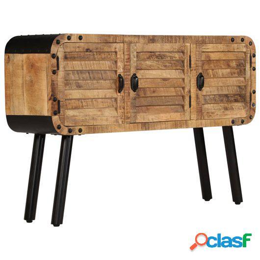 Aparador de madera maciza de mango 120x30x76 cm
