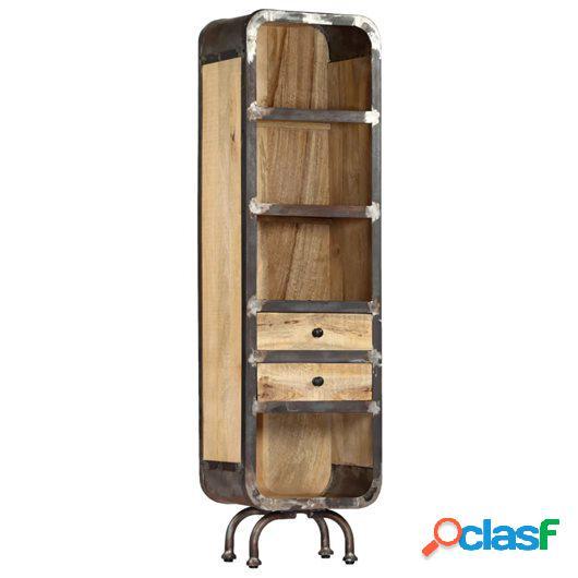 Aparador de madera maciza de mango 40x30x145 cm