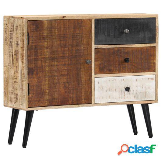 Aparador de madera maciza de mango 88x30x73 cm