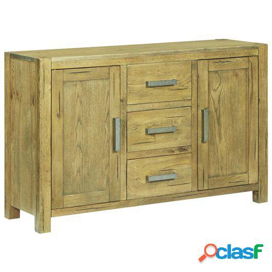 Aparador de madera maciza de roble rústica 110x35x70 cm