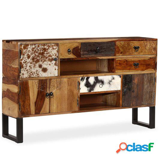 Aparador de madera maciza de sheesham 140x30x80 cm