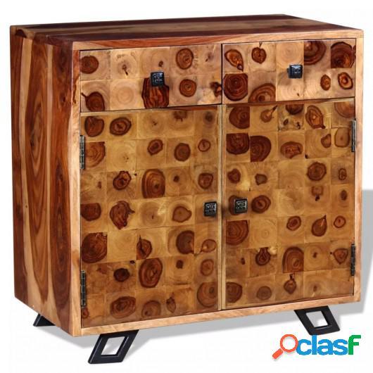 Aparador de madera maciza de sheesham 65x35x65 cm