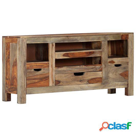 Aparador de madera maciza de sheesham gris 100x30x50 cm