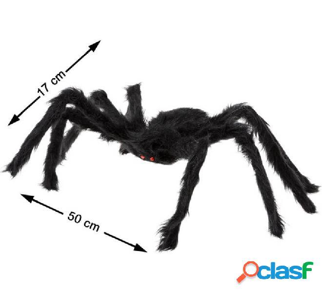 Araña peluda con ojos rojos 17X50 cm