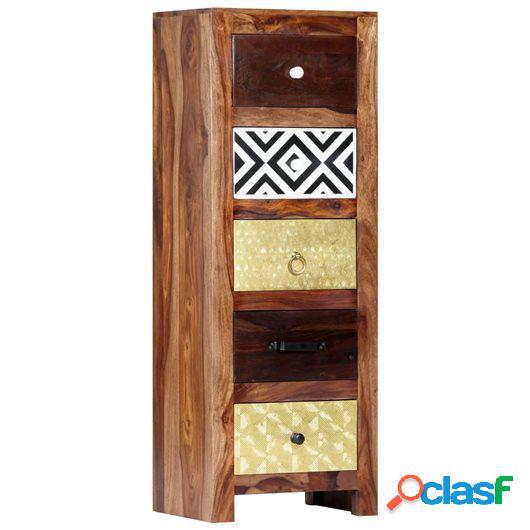 Armario auxiliar de madera maciza de sheesham 40x30x110 cm