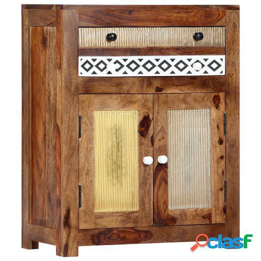 Armario auxiliar de madera maciza de sheesham 60x30x75 cm