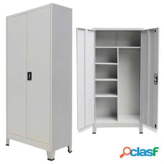 Armario de almacenaje con 2 puertas de acero 90x40x180 cm