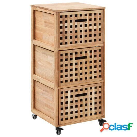 Armario de cuarto de baño 41x41x91 cm madera maciza de