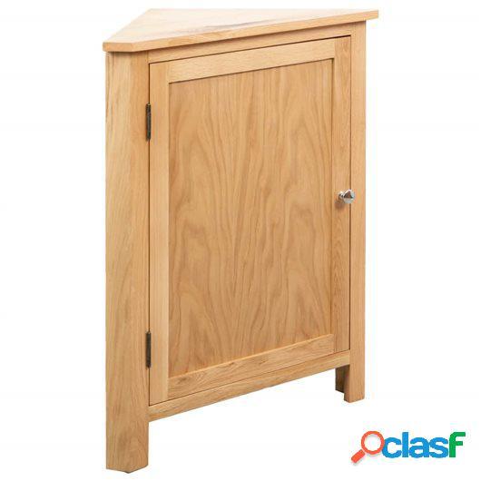 Armario de esquina de madera maciza de roble 59x36x80 cm