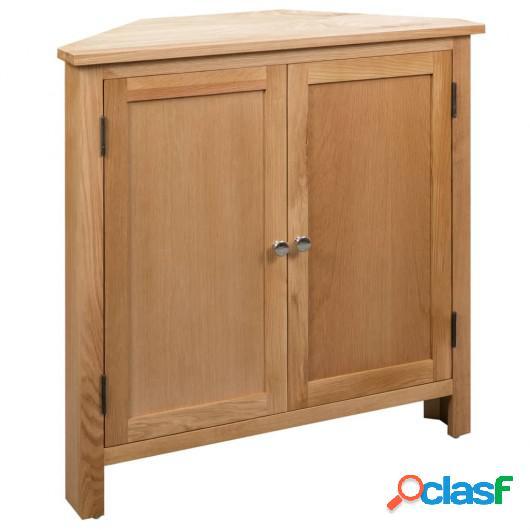 Armario de esquina de madera maciza de roble 80x33,5x78 cm