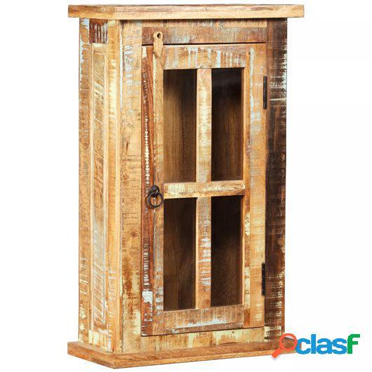 Armario de pared de madera maciza reciclada 44x21x72 cm