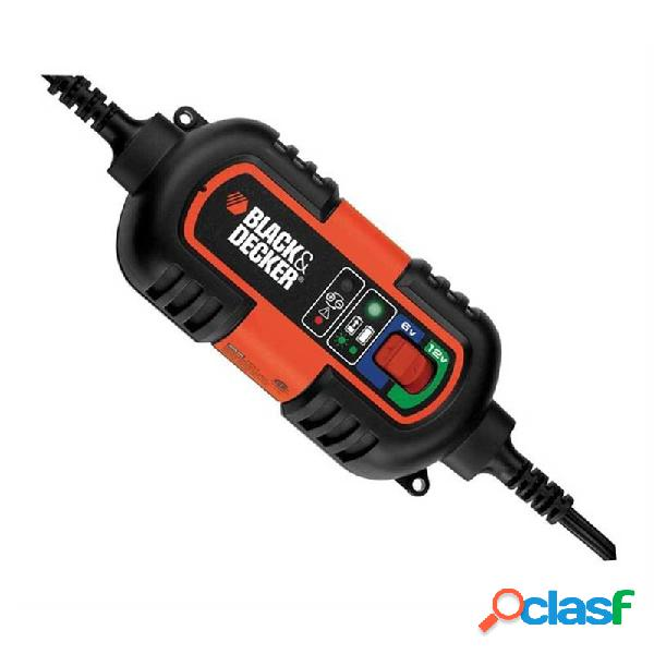 BDV090 - Cargador de baterías 6-12V de mantenimiento Black