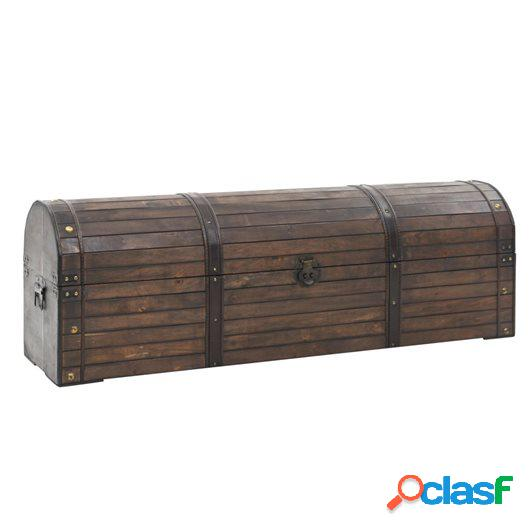 Baúl de almacenaje madera maciza estilo vintage 120x30x40