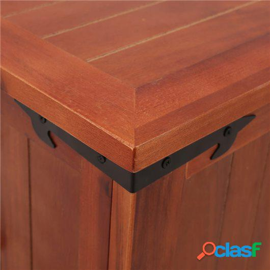 Baúl de almacenamiento de madera maciza de acacia 60x25x22