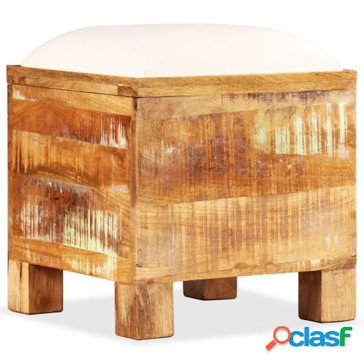 Banco de almacenamiento de madera reciclada maciza 40x40x45