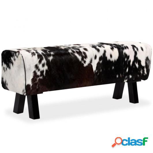 Banco de cuero de cabra auténtico 120x30x45 cm