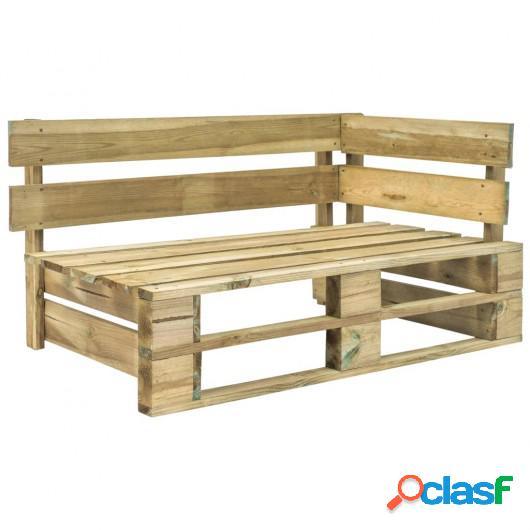 Banco de esquina de palés para jardín madera FSC verde
