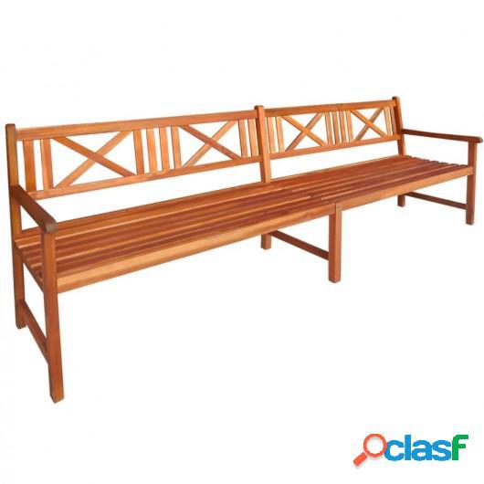Banco de jardín 240 cm madera de acacia maciza