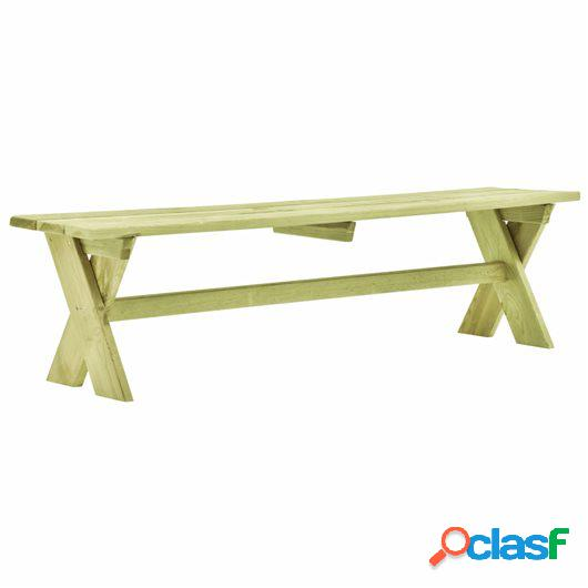 Banco de jardín de madera de pino impregnada FSC 170 cm