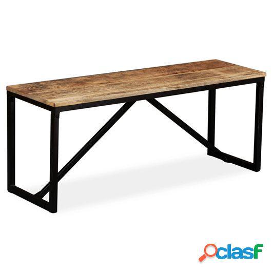 Banco de madera de mango maciza 110x35x45 cm