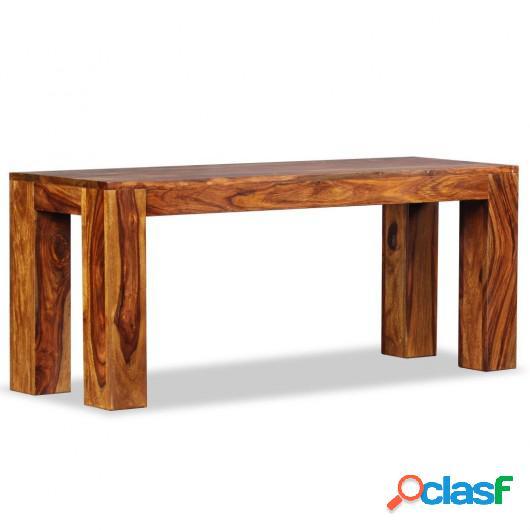 Banco de madera maciza de sheesham 110x35x45 cm
