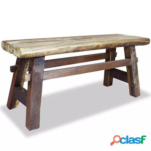 Banco de madera maciza reciclada 100x28x43 cm