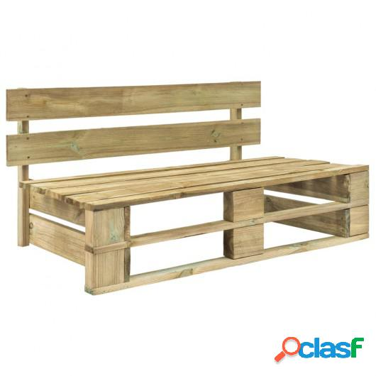 Banco de palés para jardín madera FSC verde
