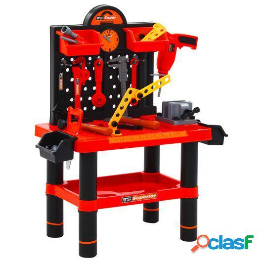 Banco de trabajo de juguete para niños 51 piezas 57x32x68
