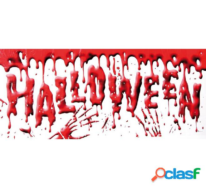 Banderola sangrienta Halloween 61 x 152 cm
