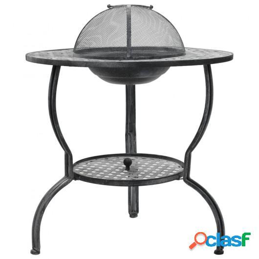 Barbacoa de carbón gris antiguo 70x67 cm