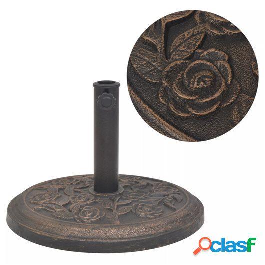 Base de sombrilla de resina redonda bronce 9 kg