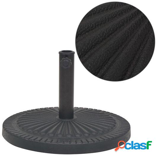 Base de sombrilla de resina redonda negro 14 kg