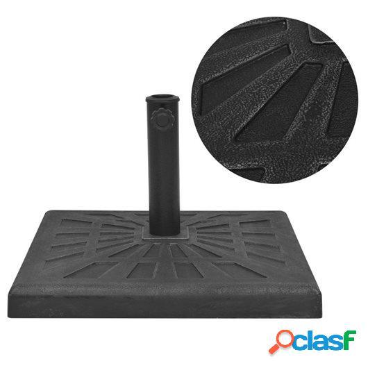 Base de sombrilla resina cuadrada negra 12 kg