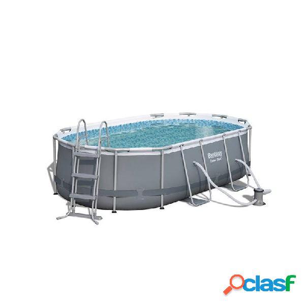 Bestway - Piscina desmontable oval 424x250x100 cm Power