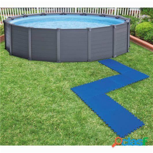 Bestway Protectores de suelo de piscina 8 piezas azul 50x50