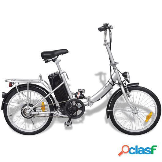 Bicicleta eléctrica plegable de aluminio con batería
