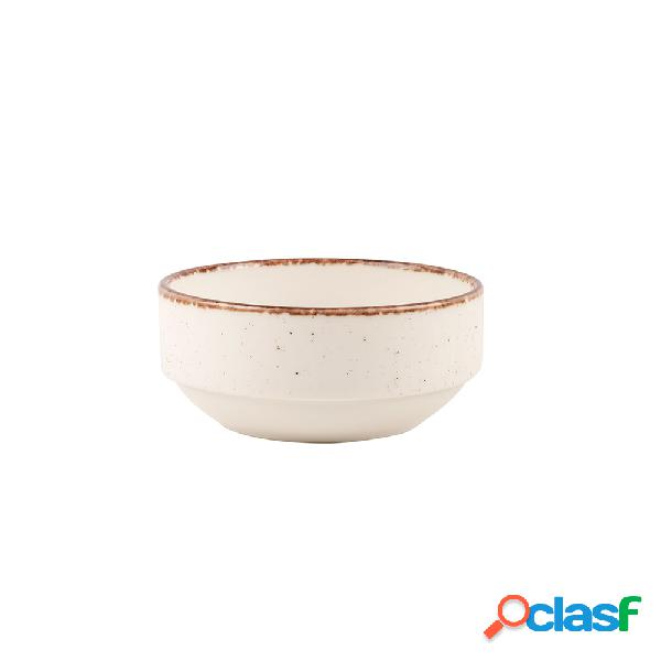 Bol Apilable Blanco Eo Side porcelana 12cm